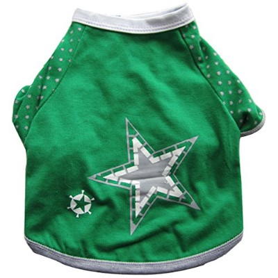 Iconic Pet 91998 Pretty Pet Green Summer Top For Dogs And Puppies - Large