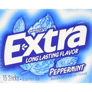 〈海外直送品〉Extra Long Lasting Flavor Sugarfree Gum Peppermint 15 piece pks. - 10 ct. エクストラ シュガーフリーガム...