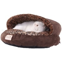 Armarkat Cat Bed, Mocha and Leopard by Armarkat