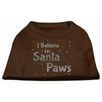 Mirage Pet Products 51-130 XLBR Screenprint Santa Paws Pet Shirt Brown XL - 16