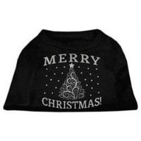 Mirage Pet Products 51-131 XXLBK Shimmer Christmas Tree Pet Shirt Black XXL - 18