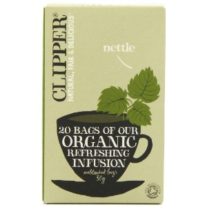 Clipper Organic Nettle Herbal Infusion 20 Teabags (Pack of 6, Total 120 Teabags)