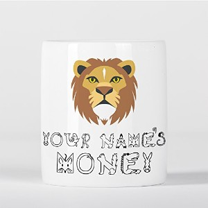 Personalised Lion Cute Animal Zoo Children Customizable 貯金箱