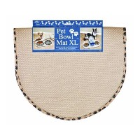 Envision Home 413000 Microfiber Pet Bowl/Food Mat, X-Large, Taupe by ENVISION