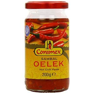 Conimex Sambal Oelek Hot Chilli Paste 200 g (Pack of 6)