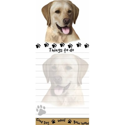 Yellow Labrador Magnetic List Pads Uniquely Shaped Sticky Notepad Measures 8.5 by 3.5 Inches by E&S...