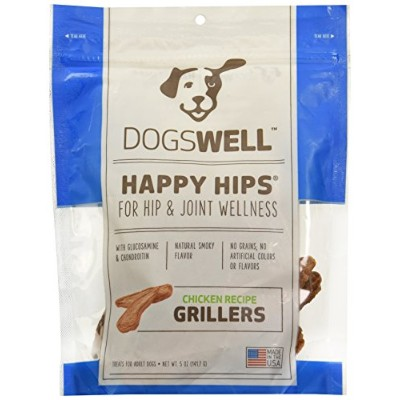Dogswell Natural Happy Hips Joint Wellness Chicken Recipe Grillers for Dogs 5z