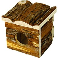 Ware Manufacturing Critter Timbers Bark Bungalow Guinea Pigs Natural Wood Small