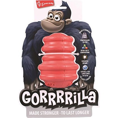 Multipet Gorrrrilla Durable Treat Dispensing Training Interactive Toy Red 4.5""