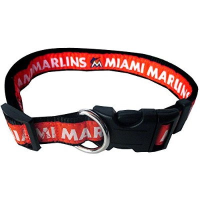 Miami Marlins Dog Collar Medium