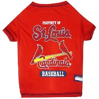 St. Louis Cardinals Baseball Dog Shirt Small