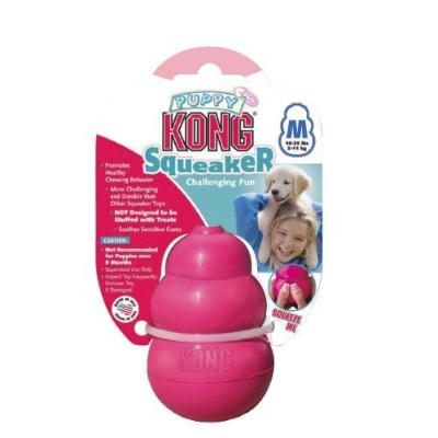 Puppy Kong Rubber Squeaker Chewing Toy, Medium by KONG [並行輸入品]
