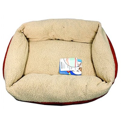 Petmate Aspen Pet Self Warming Cat And Dog Bed 35 X 27 Inch Spice-Creme 80138