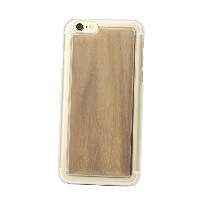 [iPhone6/6s専用]REAL WOODEN CASE COVER「CLEAR EDGE-クリアエッジ-」for iPhone6/6s (ウォールナット)