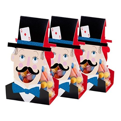 Talking Tables Magic Party Paper Treat Bags for A誕生日パーティー、マルチカラー(6パック)