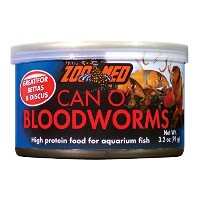 Zoo Med Can O' Fresh Bloodworms High Protein Healthy Food for Aquarium Fish 3.2z