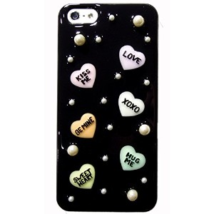 candyheart case for iPhone5s/5 (ブラックパール)