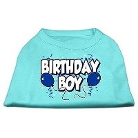 Mirage Pet Products 10-Inch Birthday Boy Screen Print Shirts, Small, Aqua by Mirage Pet Products ...