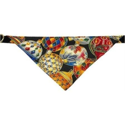 Mirage Pet Products Limited Edition Velvet Christmas Ornament Bandana Collar for Dogs, 14-Inch by...