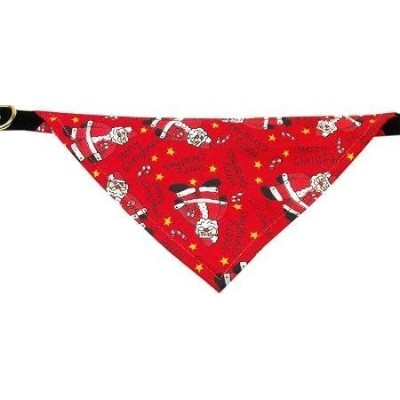 Mirage Pet Products Limited Edition Christmas Red Santa Bandana Collar for Dogs, 10-Inch, Black...