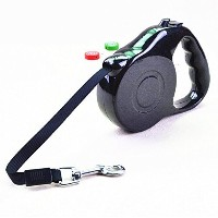 Blovess Retractable Pet Dog Leash with Push Button Lock & Release Knobs (Black, S) by Blovess ...