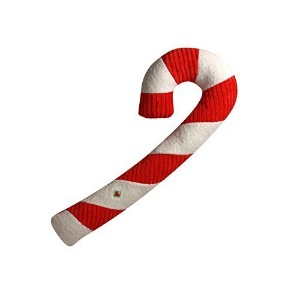 HuggleHounds Durable Squeaky Candy Cane Dog Toys [並行輸入品]