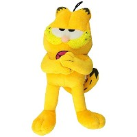Multipet Classic Officially Licensed Plush Garfield Squeak Toy for Dogs, 10-Inch [並行輸入品]