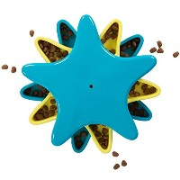 Outward Hound Kyjen 41005 Star Spinner Treat Toy Dog Toys Scent Puzzle Training Toy, Large, Blue ...