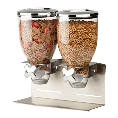 Zevro KCH-06146 Indispensable Designer Dry Food Dispenser, Dual Control, Stainless Steel, Silver by...