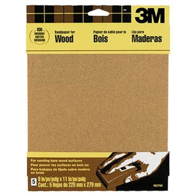 (Assorted Grit, Assorted Grit) - 3m 22.9cm X 27.9cm Assorted Bare Woods Sandpaper 9040NA