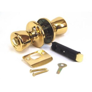 United States Hdwe.D-600BPrivacy Lockset-PB MOBILE HOME PRIV LOCK (並行輸入品)