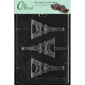 Cybrtrayd M155 Eiffel Tower Chocolate Candy Mold with Exclusive Cybrtrayd Copyrighted Chocolate...