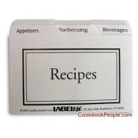 Recipe Card Divider 3-by-5-Inch Set by BigKitchen