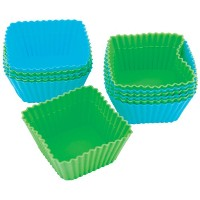Wilton Square Silicone Baking Cups, 12 Count by Wilton