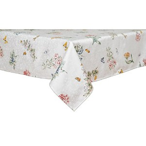 Lenox Butterfly Meadow 60-inch by 120-inch Oblong / Rectangle Tablecloth by Lenox