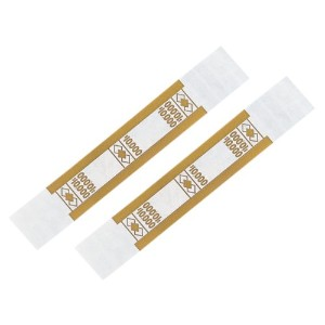 Self-Adhesive Currency Straps, Mustard, $10,000 in $100 Bills, 1000 Bands/Pack (並行輸入品)