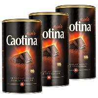 Caotina noir, Cocoa Powder with Dark Swiss Chocolate, Hot Chocolate, 3 Pack, 3 x 500g by Caotina ...