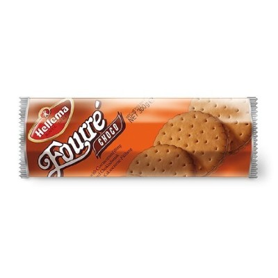 2 Roll Hellema Fourre Choco(Chocolat)Biscuits gevuld met Cacao creme - Buscuits fourres arome cacao...