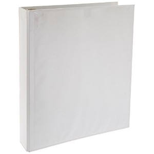 "Earthview Round Ring Presentation Binder, 1-1/2"" Capacity, White (並行輸入品)"