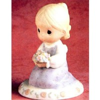 "Precious Moments ""Thinking of You Is What I Really Like to Do"" Porcelain Figurine by Precious..."