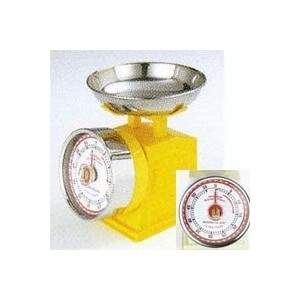 "Kitchen timer ""American scale look"" Yellow"