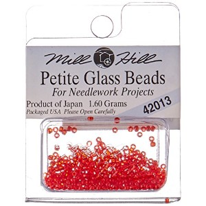 Mill Hill Petite Glass Seed Beads 1.60 Grams/Pkg-Red Red (並行輸入品)