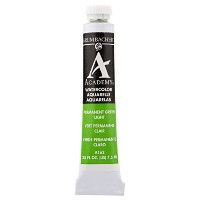 Grumbacher Academy Watercolor Paint 7.5ml/Tube-Permanent Green Light (並行輸入品)