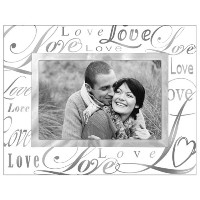 """Malden International Designs Beveled Glass """"Treasures Love"""" Metal Picture Frame, 4 by 6-Inch,..."""