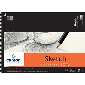 """Canson Universal Spiral Sketch Book 18""""X24""""-35 Pages (並行輸入品)"""