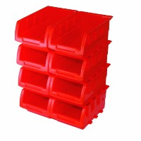 Silverline Stacking Boxes Set 8pce 165 x 105 x 75mm