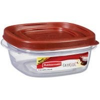 Rubbermaid Easy Find Lid Square 1-1/4-Cup Food Storage Container, 1 Count by Rubbermaid