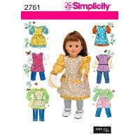 SIMPLICITY 18 DOLL CLOTHES AND APRONS-ONE SIZE (並行輸入品)