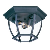 Acclaim 5602BK/SD Flush Mount Collection 3-Light Ceiling Mount Outdoor Light Fixture, Matte Black...