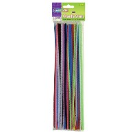 "Regular Stems, 12"" x 4mm, Metal Wire, Polyester, Assorted, 100/Pack (並行輸入品)"